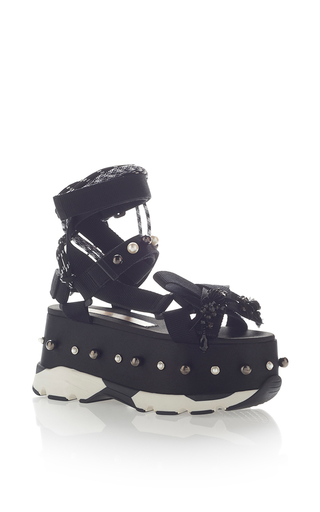 Medium no 21 black neoprene platform sandal