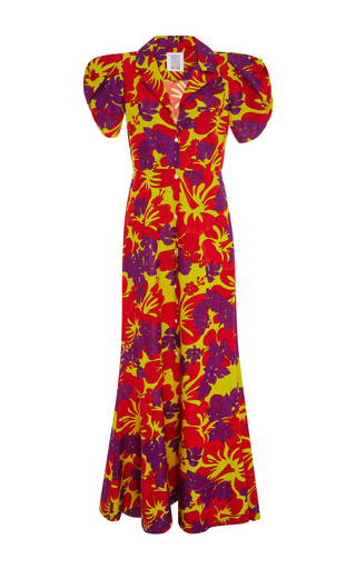 Medium rosie assoulin floral puff sleeved floral gown
