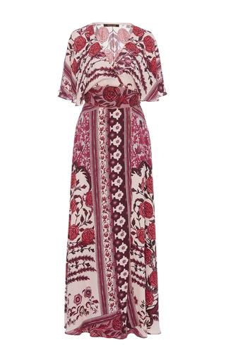 Medium roberto cavalli print printed wrap maxi dress