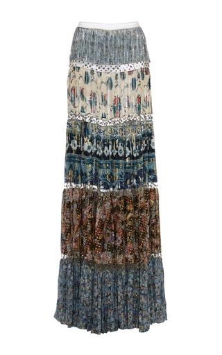 Medium roberto cavalli print pleated printed maxi skirt