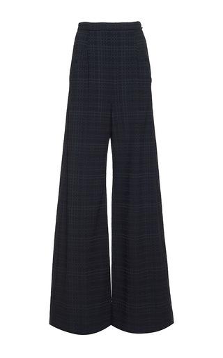 Medium roland mouret plaid harrison puckered check trouser
