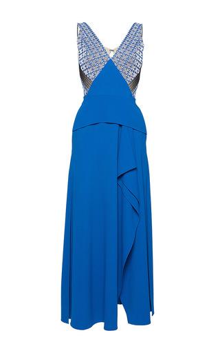 Medium roland mouret multi kao chevron lace dress