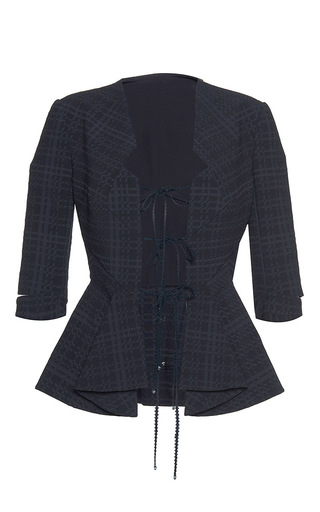 Medium roland mouret black hanover puckered check jacket