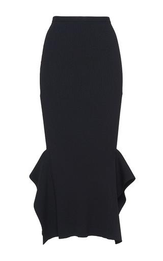 Medium roland mouret black fletcher rib knit skirt