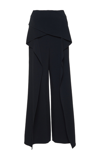 Medium roland mouret black caldwell stretch double crepe trouser