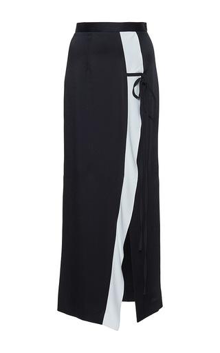 Medium roland mouret black brantley satin crepe skirt