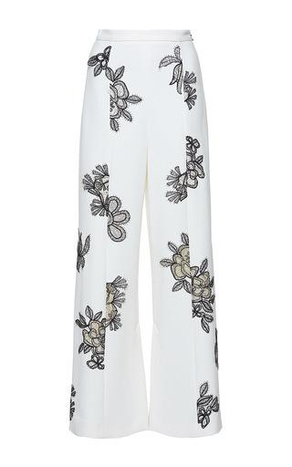 Medium roland mouret multi glover floral palm lace trousers