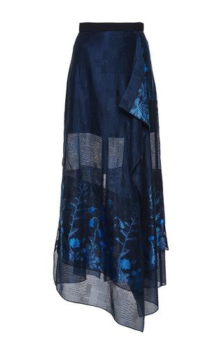 Medium roland mouret floral upton floral tapestry fils coupe skirt