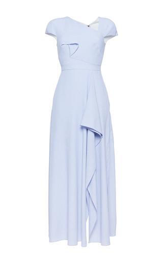 Medium roland mouret purple elliot chevron dress