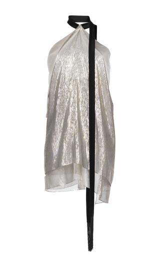 Medium roland mouret metallic boltwood silk lurex georgette top