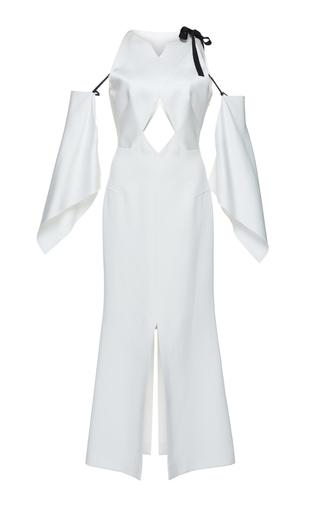 Medium roland mouret white matas satin crepe dress