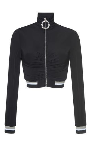 Medium alessandra rich black black high neck tracksuit zip up top