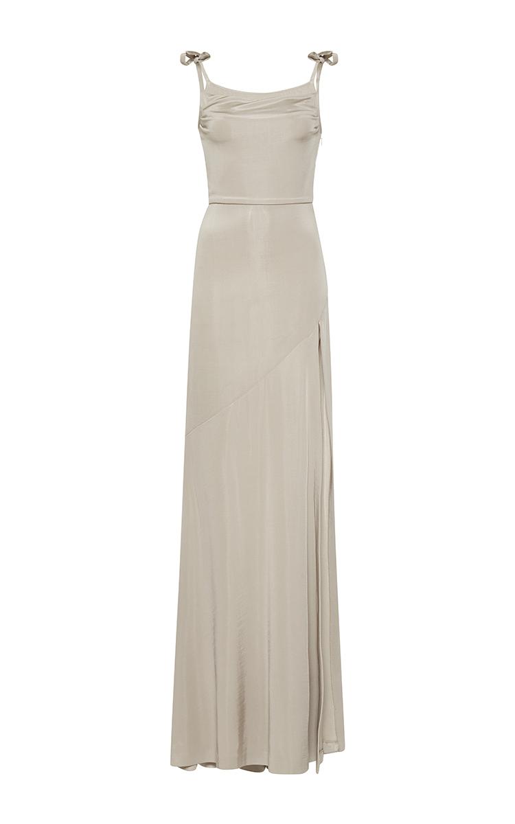 fe55ba713b943 Tie Strap Jersey Gown by Alessandra Rich