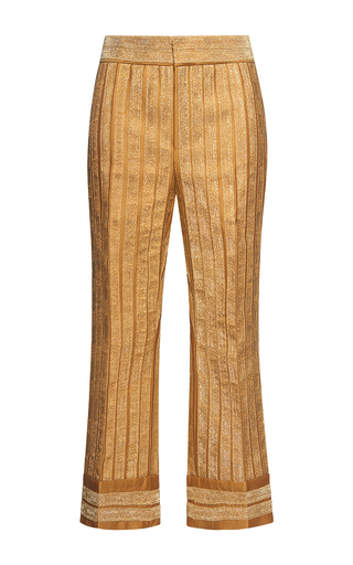 Medium dsquared2 gold cropped slouch flare pant