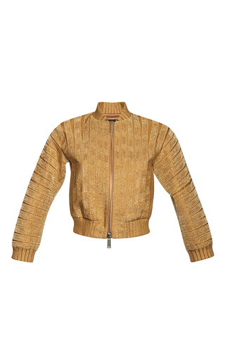 Medium dsquared2 gold cropped silk cotton jacket