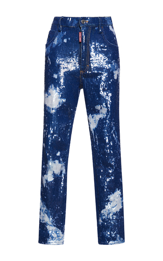 Medium dsquared2 blue maculato wash kawaii jean