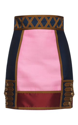 Medium dsquared2 multi marching band high waist mini skirt