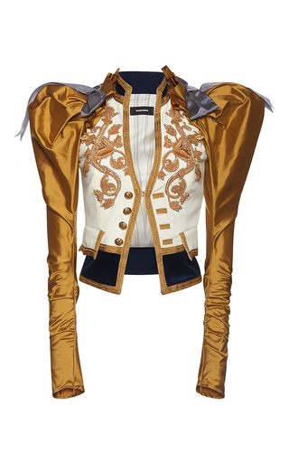 Medium dsquared2 multi heraldic embroidery puff sleeve jacket