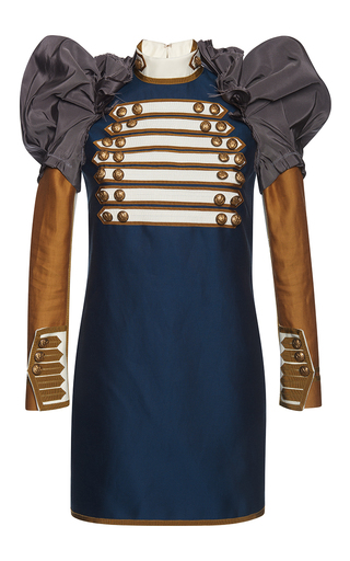 Medium dsquared2 blue puff sleeves marching dress