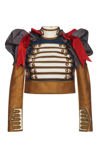 Medium dsquared2 gold marching puff long sleeve top