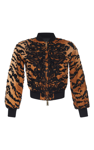 Medium dsquared2 print embroidered mini bomber jacket