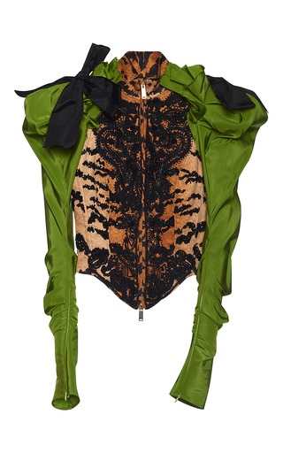 Medium dsquared2 multi embroidered bustier jacket
