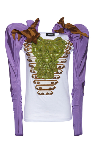 Medium dsquared2 multi renny fit long sleeve jersey top