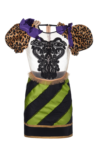 Medium dsquared2 multi embroidered sheer mix match dress