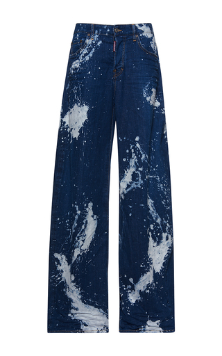 Medium dsquared2 blue maculato wash jazz jeans