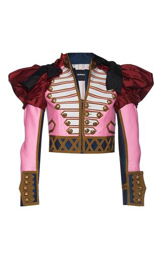 Medium dsquared2 pink embroidered puff sleeve kaban jacket