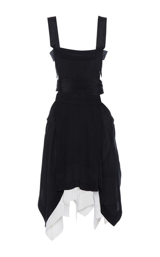 Medium isabel marant black oury asymmetrical sleeveless dress