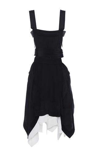 Medium isabel marant black oury asymmetrical sleeveless dress
