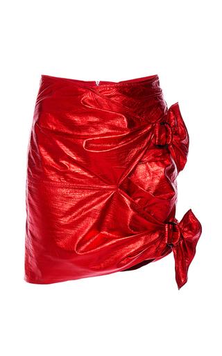 Medium isabel marant red doll leather tie mini skirt