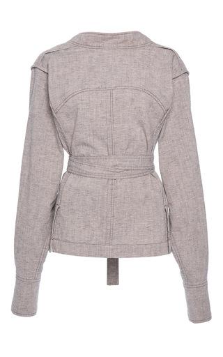 Medium isabel marant light grey neryl mock neck blouse