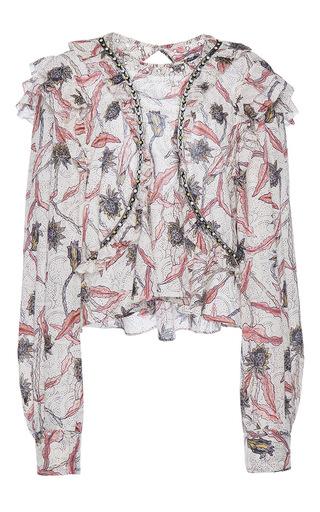 Medium isabel marant off white uster cropped long sleeve blouse