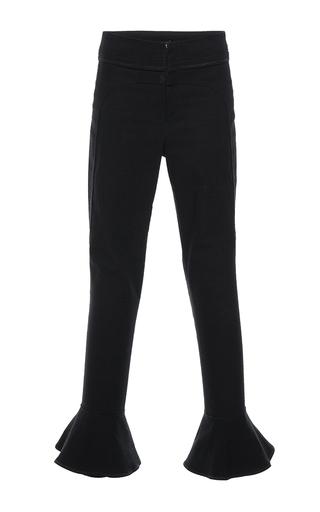 Medium isabel marant black hunter cropped trousers
