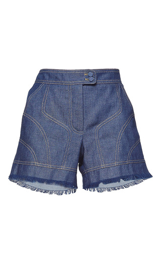 Medium andrew gn blue high waisted denim shorts