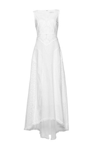 Medium andrew gn white eyelet scoop neck dress