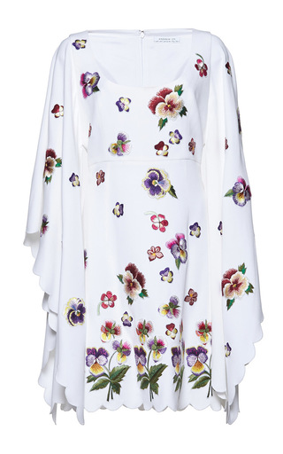 Medium andrew gn white flutter sleeve floral dress