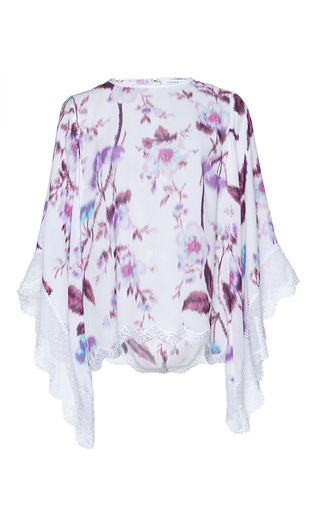 Medium andrew gn purple floral printed top