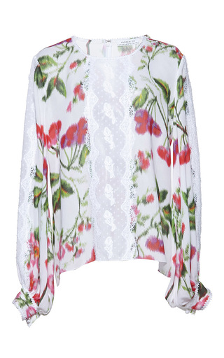 Medium andrew gn pink floral printed top 2