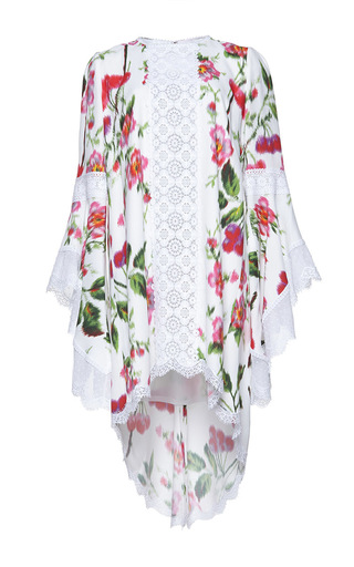 Medium andrew gn pink flutter sleeve floral dress 2
