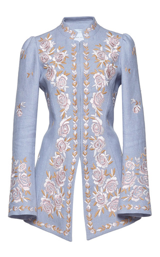 Medium andrew gn blue floral embroidered jacket