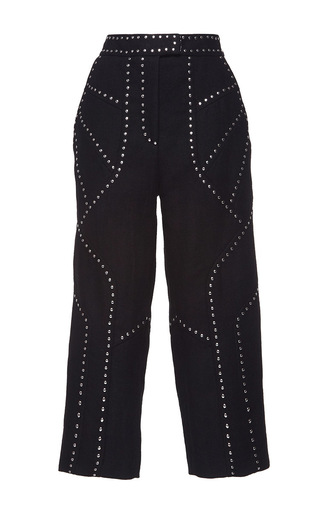 Medium andrew gn black high waisted cropped trousers