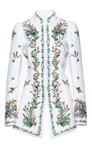 Medium andrew gn white floral embroidered jacket 2