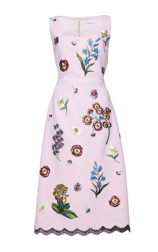 Medium andrew gn pink sleeveless a line dress