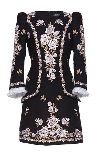 Medium andrew gn black three quarter length sleeve mini dress 2