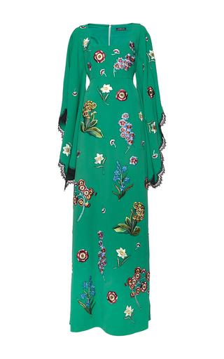 Medium andrew gn green scoop neck gown
