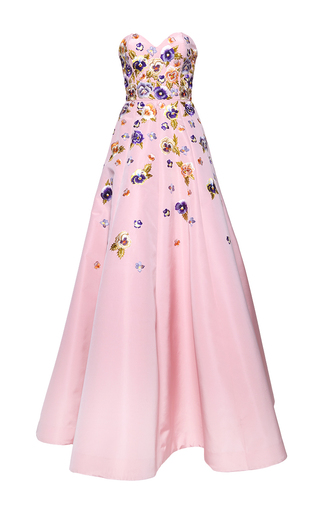 Medium andrew gn pink sweetheart gown