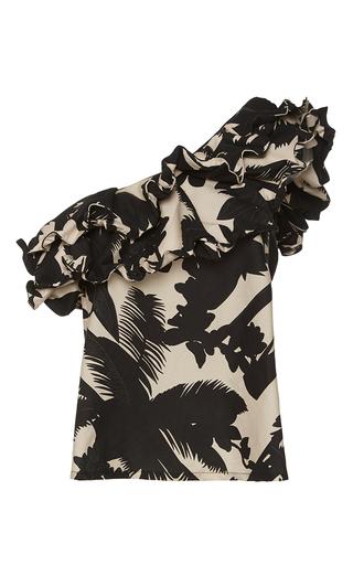 Medium johanna ortiz print macau one shoulder cotton sateen top